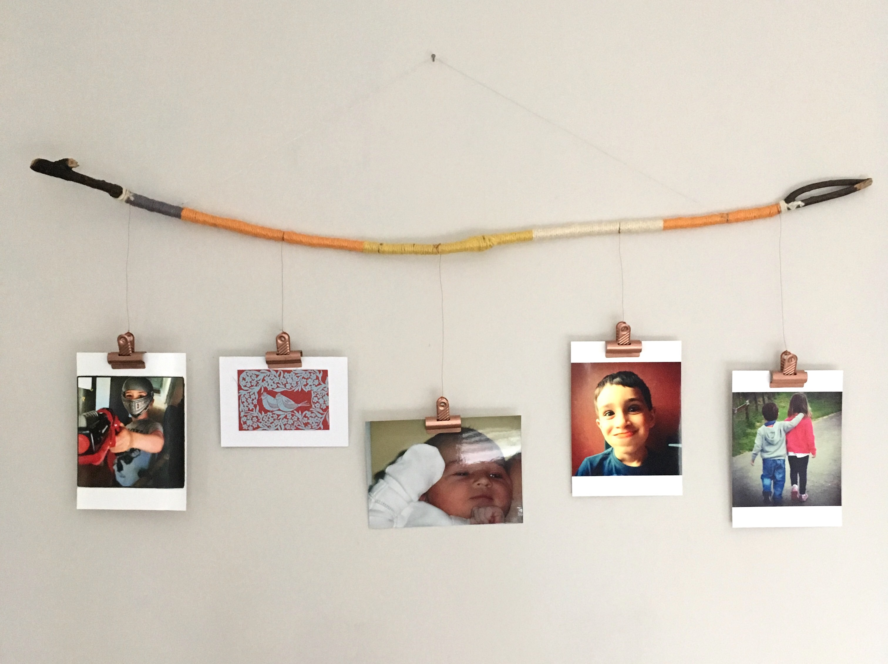 Hanging Pictures With Wire And Clips Impressive Virtually Free Upcycled  Picture Hanging All Round Creative Junkie